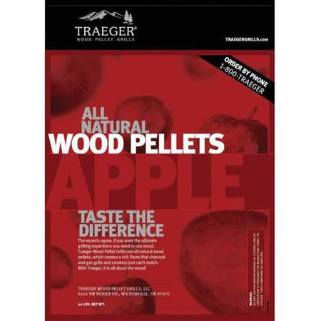 Traeger Bbq Pellets Apple, 20 lb