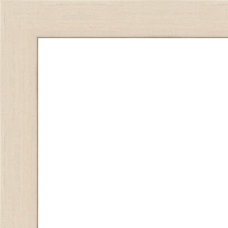 5x5 Flat White Wash Wood Frame -