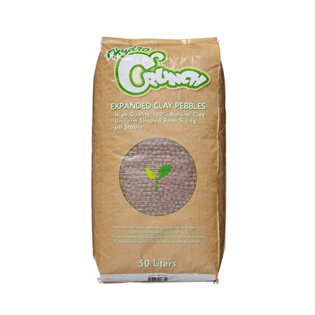Hydroton Clay Pellets - Hydro Crunch Expanded Clay Growing Media Hydroponic 50 L 8 mm Aggregate Pebbles Pellets