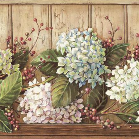 York Wallcoverings Best Of Country HK4643BD Hydrangea Border,