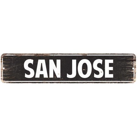 SAN JOSE Street Plate Sign Bar Store Shop Cafe Home Kitchen Chic Decor 4180036](Halloween Stores San Jose)