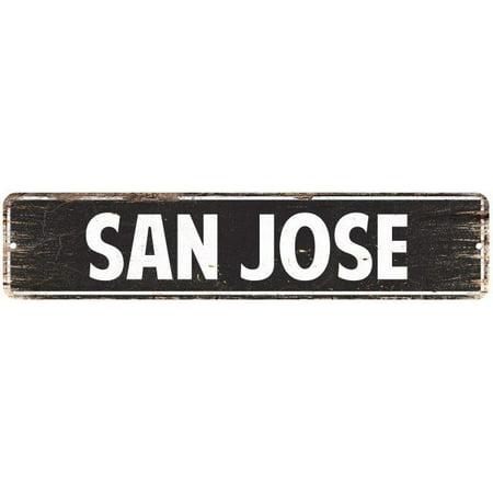 SAN JOSE Street Plate Sign Bar Store Shop Cafe Home Kitchen Chic Decor - Halloween Stores San Jose
