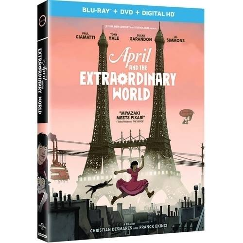 April And The Extraordinary World (Blu-ray + DVD + Digital HD) (With INSTAWATCH)