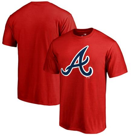 Atlanta Braves Fanatics Branded Primary Logo T-Shirt - Red
