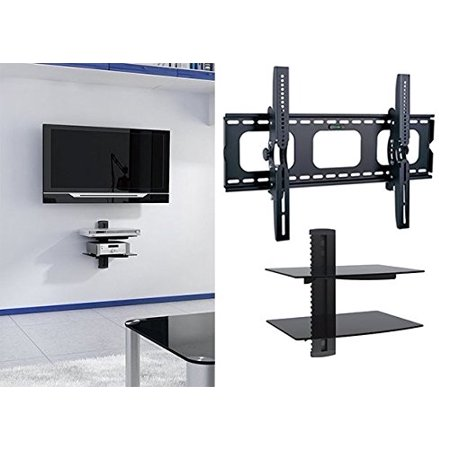 Plasma Tilt Wall Mount (2xhome - Universal Flat LED LCD Plasma Flat TV Wall Mount Tilt for 35