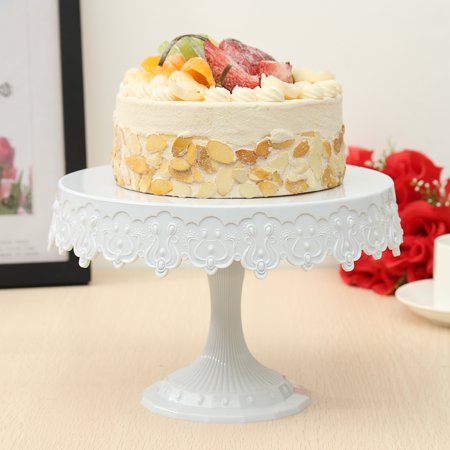 White Plastic Round Cake Stand Dessert Shelf Rack Holder For Wedding Party Serving Tools Decoration European cake tool Style 8.7