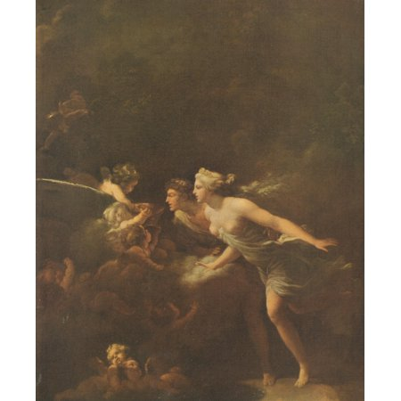 The Fountain of Love Famous Paintings 1913 Stretched Canvas - Jean-Honor Fragonard (18 x 24)