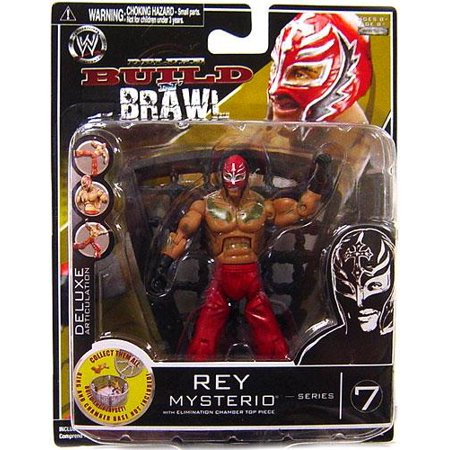 WWE Wrestling Build N' Brawl Series 7 Rey Mysterio Action Figure (Buy Rey Mysterio Mask)