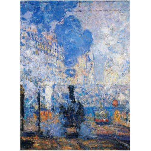 "Trademark Fine Art ""Saint Lazare Station"" Canvas Art by Claude Monet"