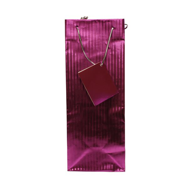 JAM Paper Wine Gift Bag 5  x 3 1/2  x 13  Fuchsia Foil Vertical Pinstripe Sold Inidually - Walmart.com  sc 1 st  Walmart & JAM Paper Wine Gift Bag 5