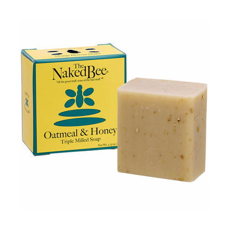 Naked Bee Oatmeal & Honey Triple Milled Bar Soap 2.75 Oz. Box of -