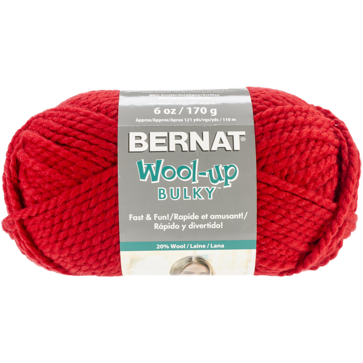 Spinrite Wool-Up Bulky Yarn, Red Multi-Colored