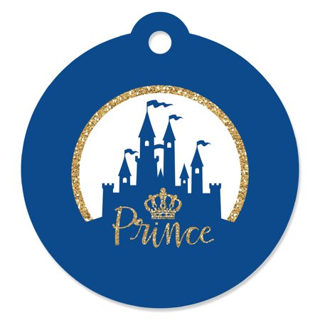 Royal Prince Charming - Baby Shower or Birthday Party Favor Gift Tags (Set of 20)](Baby Shower Prince Favors)