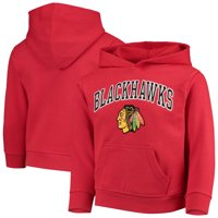 Youth Red Chicago Blackhawks Team Logo Pullover Hoodie
