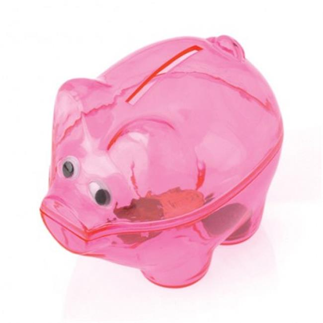 USToy BB80X6 Translucent Piggy Savings Banks - 12 per Pac...