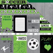 Soccer Star Double-Sided Cardstock 12 Inch X 12 Inch-Soccer Cutout