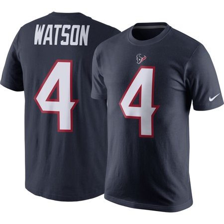 Nike Men's Houston Texans Deshaun Watson #4 Pride Navy T-Shirt