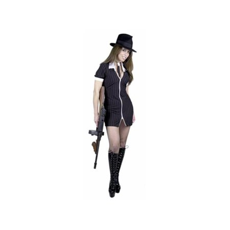 Adult Sexy Black/White Gangster Moll Costume](Gangster And Moll Costumes)
