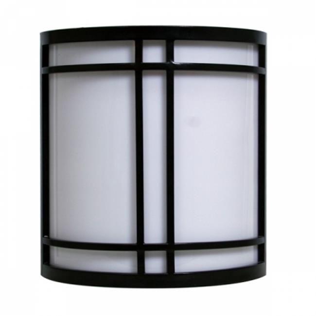Efficient Lighting EL-156-123 Exterior Wall Mount Fixture, White Acrylic