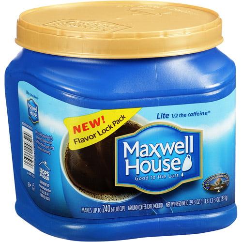 Maxwell House Lite Medium Ground Coffee, 29.3 oz