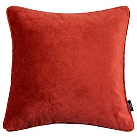 Mcalister Plush Matt Velvet 16 Decor Pillow Cover Rust Orange Red