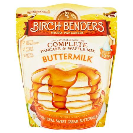 (2 Pack) Birch Benders Micro~Pancakery Buttermilk Complete Pancake & Waffle Mix, 24 - Love Bender