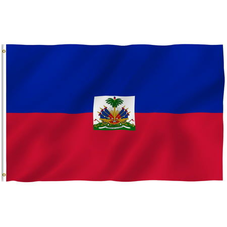 ANLEY [Fly Breeze] 3x5 Feet Haitian Flag - Vivid Color and UV Fade Resistant - Canvas Header and Brass Grommets - Haiti HT Banner -
