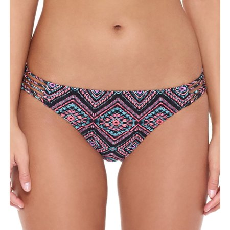 Hot Pink Classic Bottom (Women's Hot Water 24TR1149 True Reflection Multi Strap Hipster Swim Bottom )