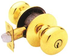 Schlage Plymouth Entry Lockset Us3 2-3 4 In. by Schlage