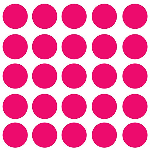 """Innovative Stencils Polka Dot Wall Decal Nursery Kids Room Peel and Stick Removable Sticker Circle Pattern Décor (4"""" (25 Dots)) #1326"""