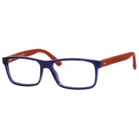 Tommy Hilfiger Glasses Frames Blue : TOMMY HILFIGER Eyeglasses 1278 0FEQ Blue / Red 53MM ...