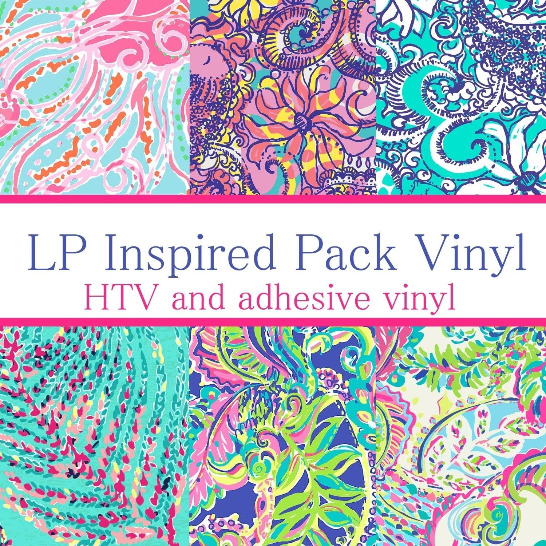 "Out to Sea Lilly HTV sheet HTV pattern vinyl sheet size 12/""x12/"" craft vinyl"