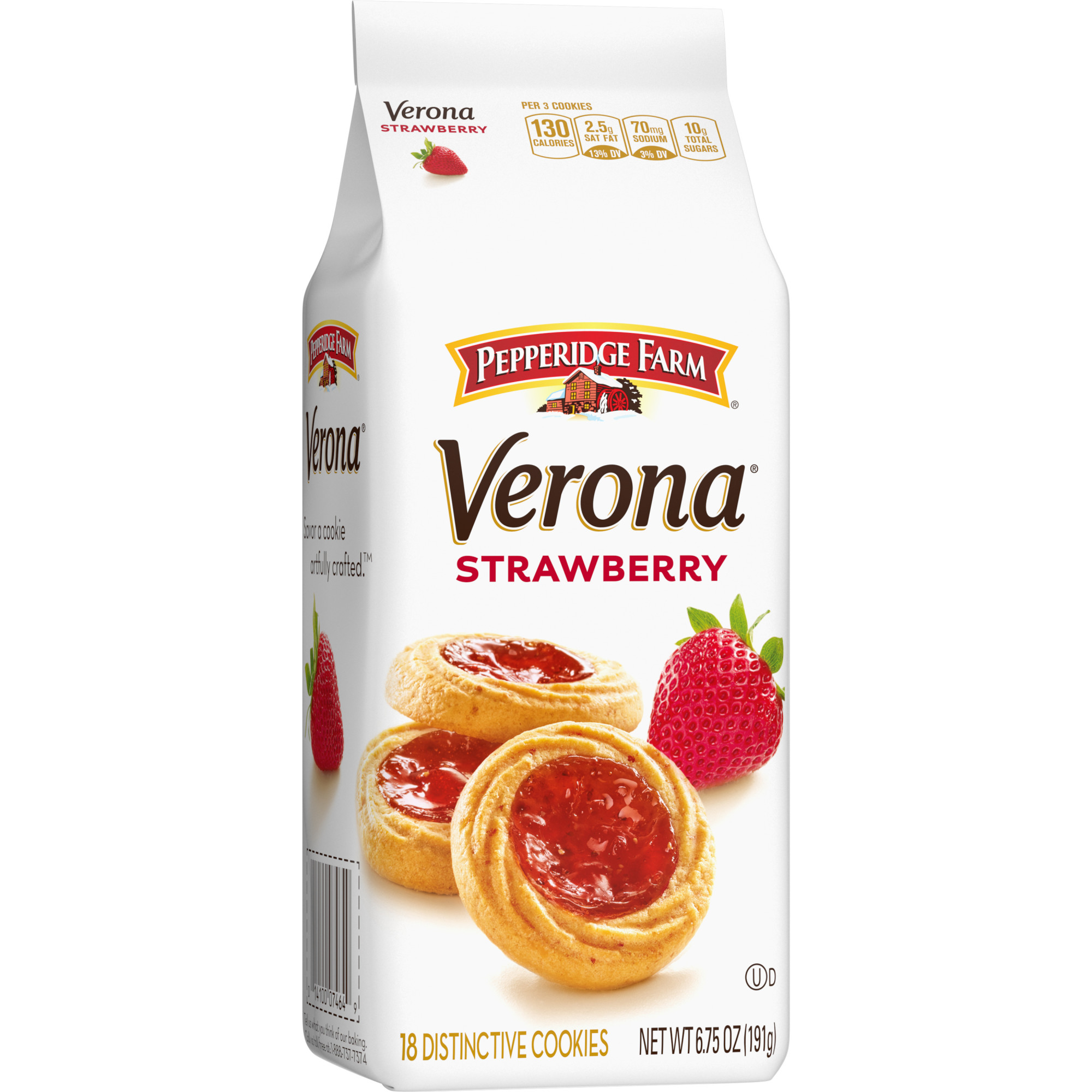 Pepperidge Farm Verona Strawberry Thumbprint Cookies 6 75 Oz Bag Walmart Com Walmart Com