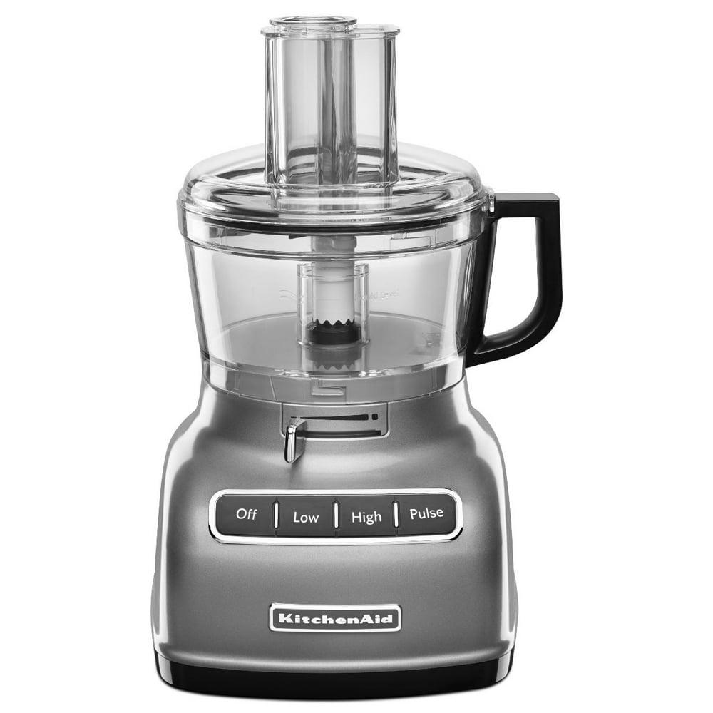 KitchenAid KFP0722CU - Food processor - 7 cup - contour silver