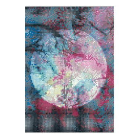 Visland 5D DIY Full Resin Diamond Painting Animal Moon Cross Stitch Home Office Decor - image 3 of 3