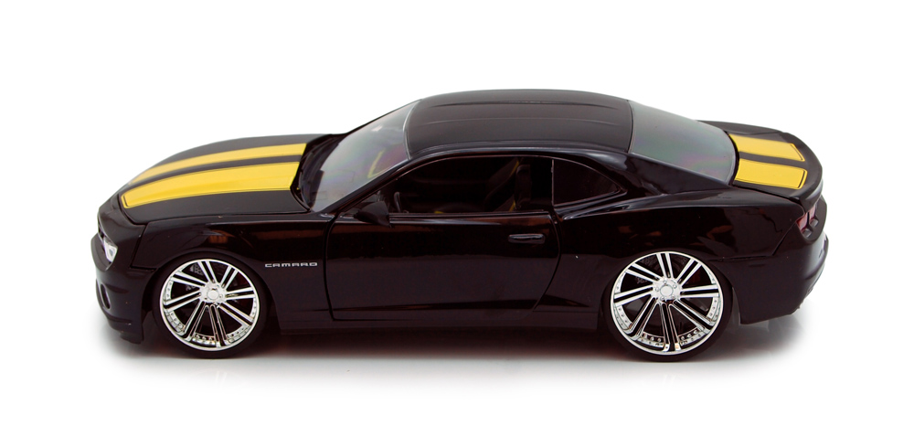 Chevy Camaro SS, Black Yellow Jada Toys Bigtime Muscle 92121 1 24 scale Diecast Model Toy... by Jada