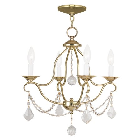 Livex Lighting Livex Chesterfield 6424 4 Light Mini Chandelier by Livex Lighting