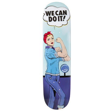 Cal 7 Rosie the Riveter Graphic Skateboard Deck | 7.75 8.0 8.25 8.5 Inch | Canadian Maple (8.5 (Logo 8.0 Skateboard Deck)