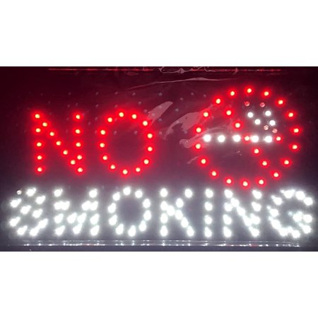 No Smoking Led Store Commerical Public Location Flashing Electric Sign  Electric Sign Has Composed Of A Number Of Led Bulbs And Some Parts Of The Sign Flash By Chv From Usa