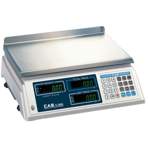 CAS S-2000 Legal for Trade Price Computing Scale  0-30 x 0 01 lb   30-60 x 0 02