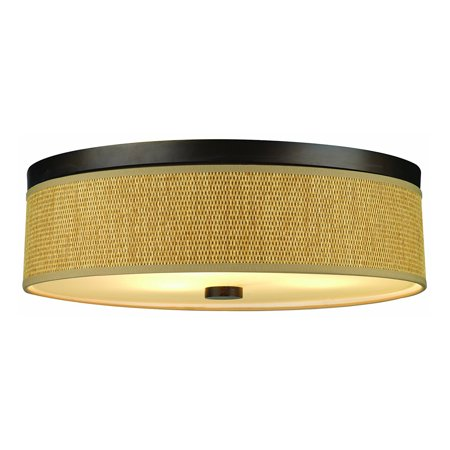 Philips Forecast 60w Candra Ceiling Light With Natural Shade Sorrel Bronze