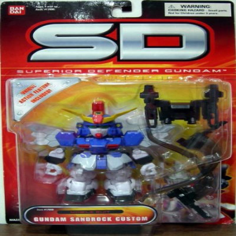 Sd Superior Defender Gundam Mobile Suit Gundam Sandrock Custom Action Figure by