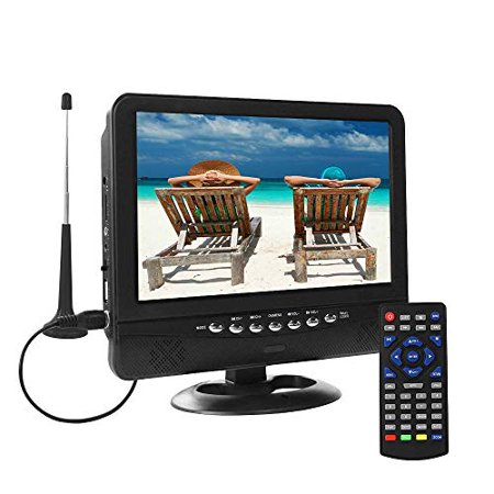 9.5 Inch Portable TV for ATSC Digital TV Viewing in The US, Canada, Mexico, USB/TF/AV in Player, max Support for 720P Video