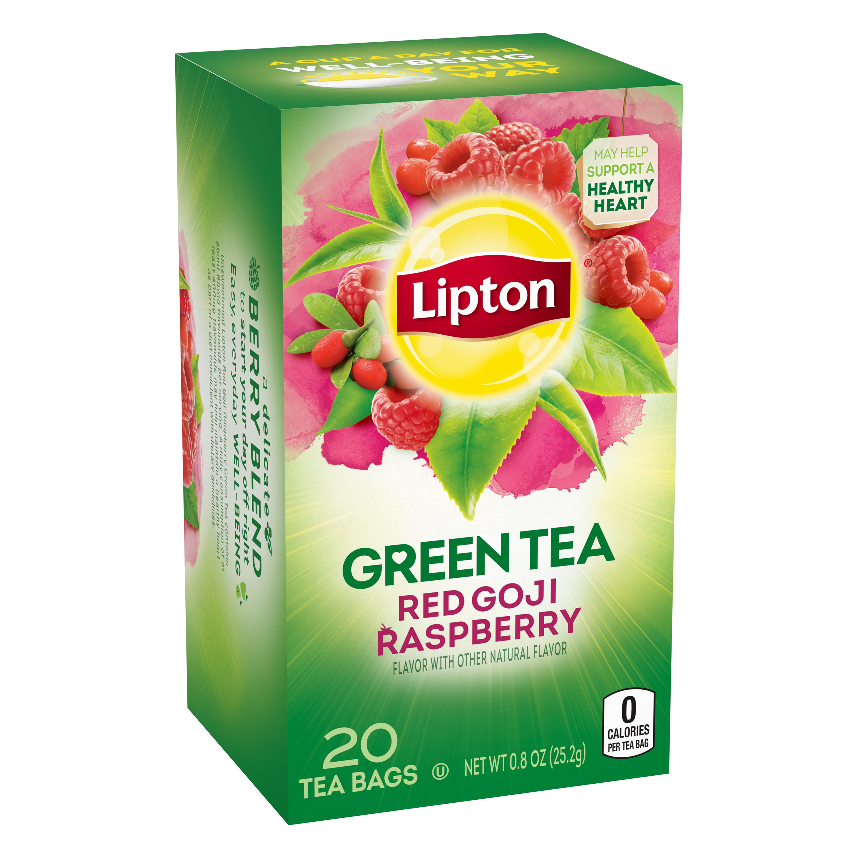 Lipton Red Goji Raspberry Green Tea Tea Bags 20 Ct Walmart