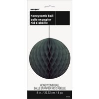 Tissue Paper Honeycomb Ball, 8 in, Black, 1ct