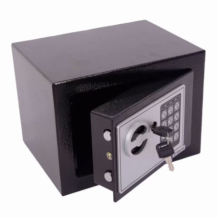 [Ship from USA] Electronic Digital Security Safe Box Keypad Lock Home Office Hotel Business Jewelry Gun Cash Use Storage money (Black ) thumbnail