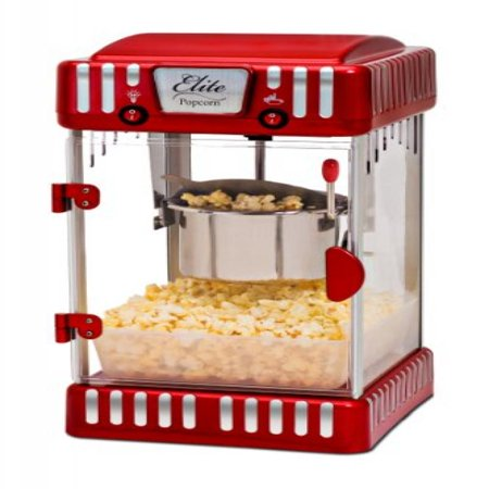 Elite Deluxe Epm 250 Maxi Matic 2 5 Ounce Clic Tabletop Kettle Popcorn Popper Machine