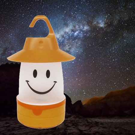 Smile LED Lantern Cute Camping Glamping Multi Use For Kids And Adults Fun Light (Glamping Gear)