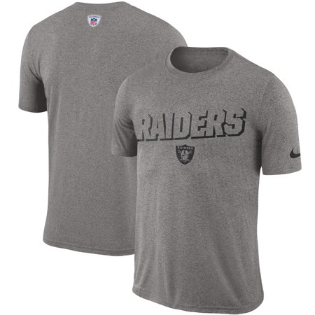 Oakland Raiders Nike Sideline Legend Sweat Reveal Lift Performance T-Shirt - Heathered Gray Nike Workout Shirts