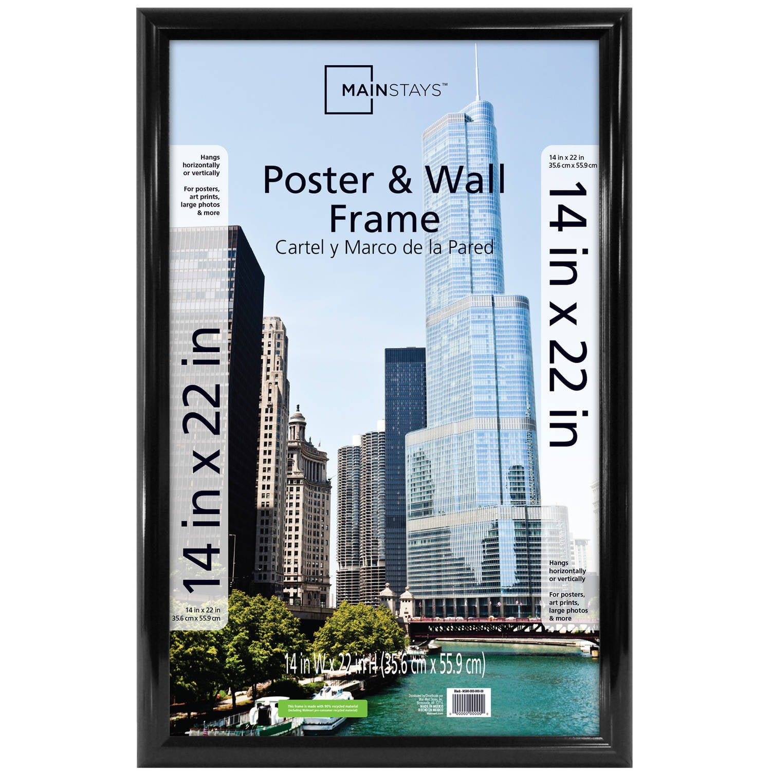 mainstays 14x22 trendsetter poster and picture frame black walmartcom